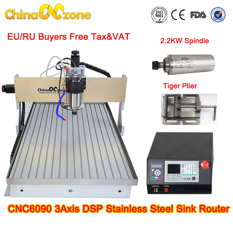 CNC 6090 4 Axis 2 2KW cnc router 6090 Metal 3D Milling Engraving Machine DSP System