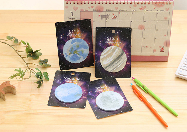 Creative Fantastic Planet Self-Adhesive Memo Pad Sticky Notes Post It Gift Stationery school office supply Escolar Papelaria