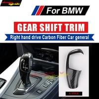 For BMW E60 F10 F18 Shift Knob Cover Right hand drive Carbon G30 G38 Shift Knob Cover 520i 528i 530i 535i 540i Shift Cover A