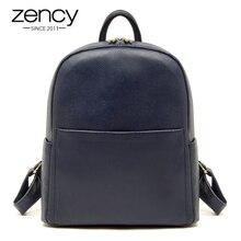 Высокое качество 100% из натуральной кожи Для женщин рюкзак школьный дорожная сумка для девочек известный бренд дамы рюкзак Bolsos Mujer синего, красного, черного цвета