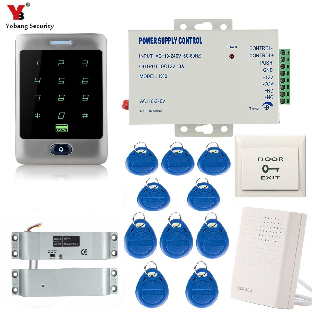 Security & Protection Adaptable Yobang Security Rfid Ip66 Waterproof Touch Metal Keypad 125khz Card Reader Door Lock Power Supply Door Access Control System