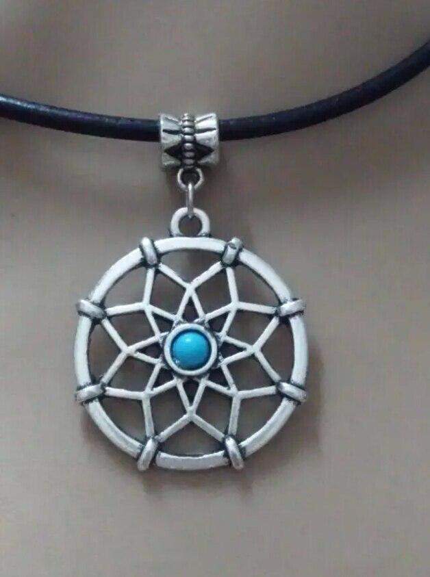 0436b78f4a35 Mode bijoux Vintage argent Dreamcatcher Charms déclaration Choker collier  pendentif accessoires B416