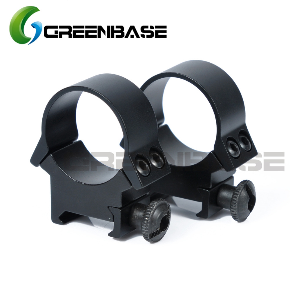 Greenbase Low Medium Profile 30mm Scope Rings Weaver Picatinny Rail Scope Mount Rifle Scope Mount For Firing Weapons Black scope camera mount for rifle scope gun scope airgun scope for compact camera casio sony canon nikon fujifilm