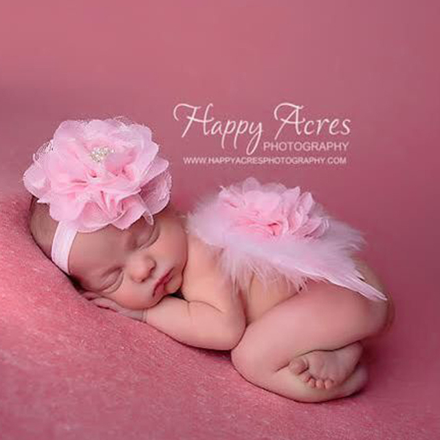 Newborn Fotografía Atrezzo Bebé Venda de La Flor Del Bebé Foto ...