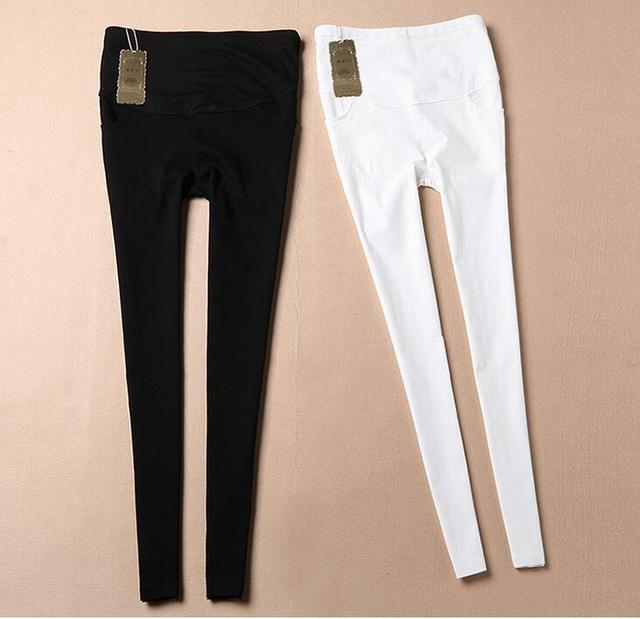 57c32961ad151 Pengpious 2019 autumn pregnant woman new outfit abdominal pencil pants  maternity stretched skinny belly trousers formal jeans
