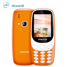 Vkworld Z3310 3D Russian keypad Mobile Phone 2.4 inch Loud Speaker FM Radio Strong LED Light 2MP Camera Dual Sim Card mini phone(China)