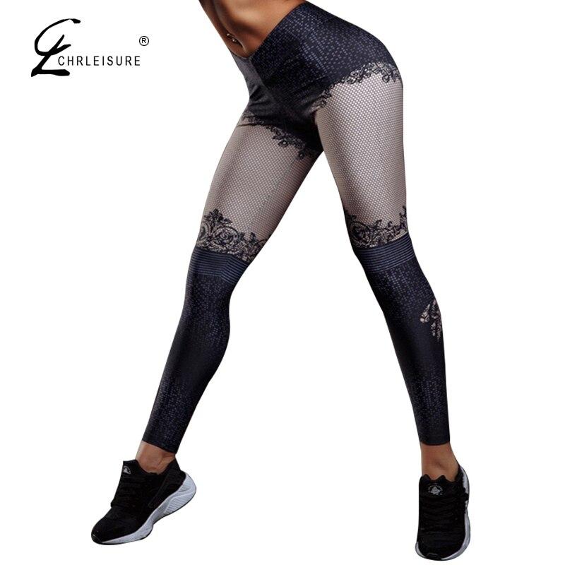 CHRLEISURE Для женщин 3D цифровые печатные леггинсы штаны Activewear Фитнес леггинсы Высокая Талия пуш-ап Легинсы Джеггинсы S-XL