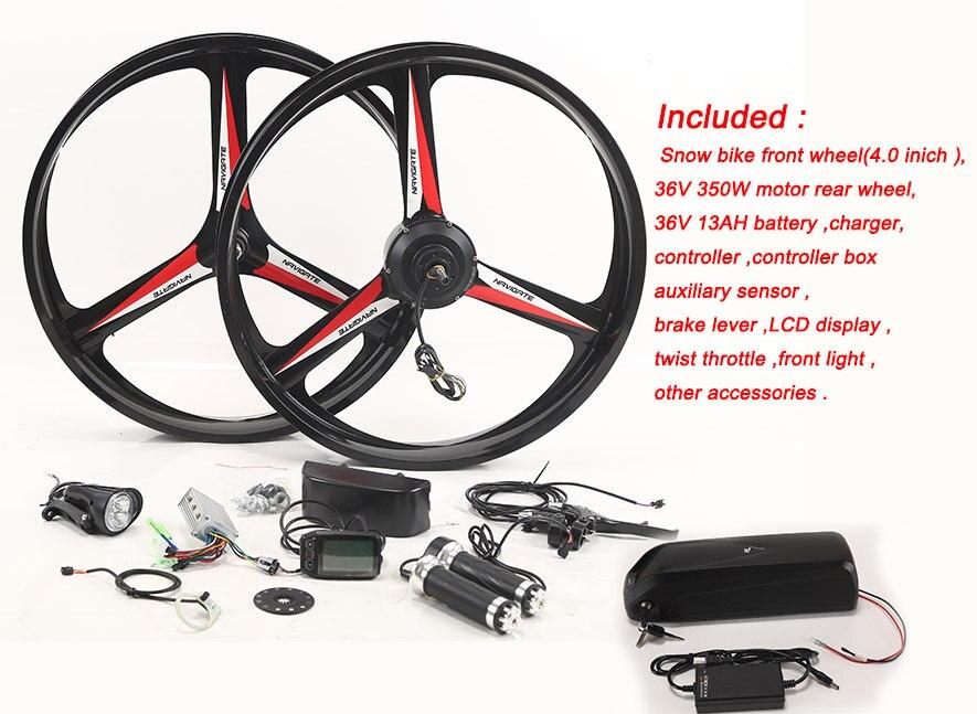Nouveauté Kit de vélo électrique 36 V 8/10/13AH batterie de bouilloire Kit de Conversion Ebike avec moteur bicicleta 350 W