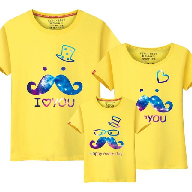 0c610de98 Family Matching Clothes Summer Mother Father Daughter Son T-shirts Set  Family Look Short Sleeve Clothing Mother Duaghter Outfits