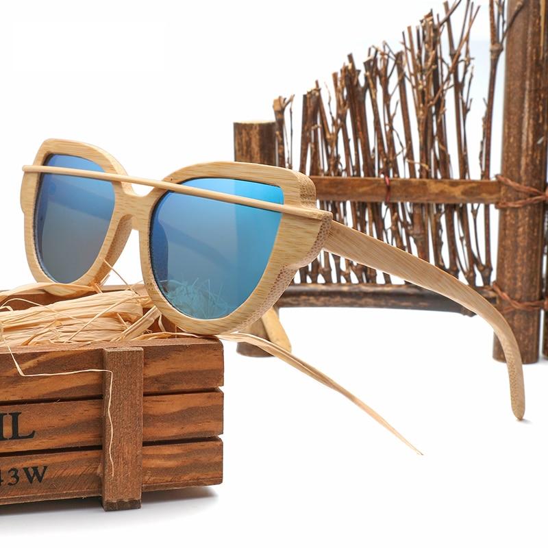 green 2018 Holz Neue pink Verschiffen silver blue 1904 Für Frauen Männer Polarisierte Und orange Brown Design Freies Uv400 Bambus Objektiv Sonnenbrille Retro rqUCrwxB