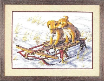 Needlework,DIY Cross Stitch,Sets For Embroidery kits,11CT&14CT&16CT,sled Dog