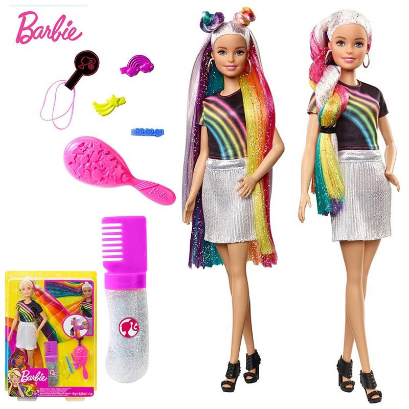 Original Barbie Dolls Brand Princess Assortment Rainbow Girl Fashion Kids Birthday Gift Doll bonecas Children baby