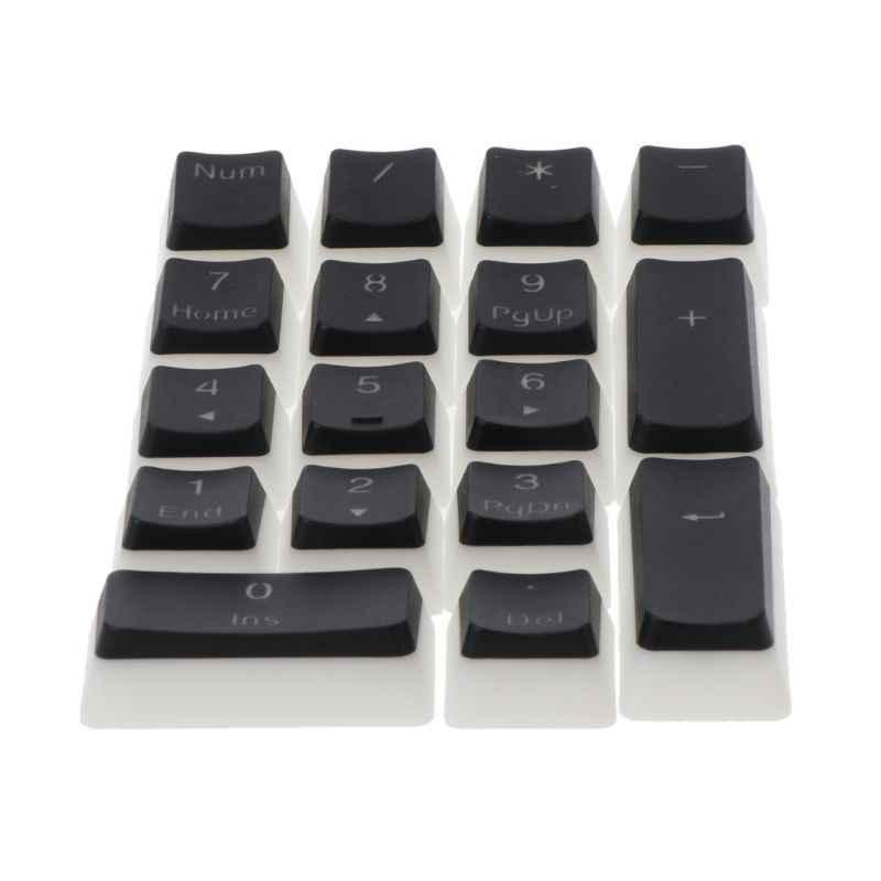 17 مفتاح RGB العلوي مطبوعة PBT النار الخلفية Keycap ل Cherry MX مفاتيح لوحة المفاتيح الميكانيكية Numpad