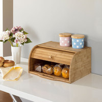 Creative Bamboo Bread Dust Proof Case Europe Style Eco Kitchen Storage Holders Natural Wood Table Organizer Storage Box
