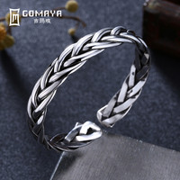 GOMAYA Authentic 999 Sterling Silver Multi weaving Bangles for Women Engagement Bracelets Popular Fine Jewelry Gift for Lady