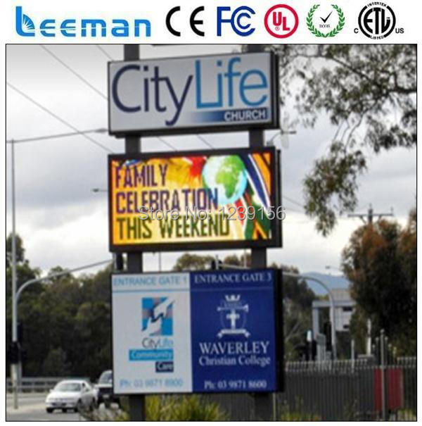 Moving led car auto messaging message sign/led car message moving scrolling sign display LEEMAN P10 DIP RGB FULL COLOR BILLBOARD