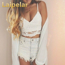Laipelar Bandage Crop tops Ladies Camisole Black White Lace Bralette Sexy Strap Tank Top Women Crop Top V neck Beach Tank Top v neck ruched lace tank top