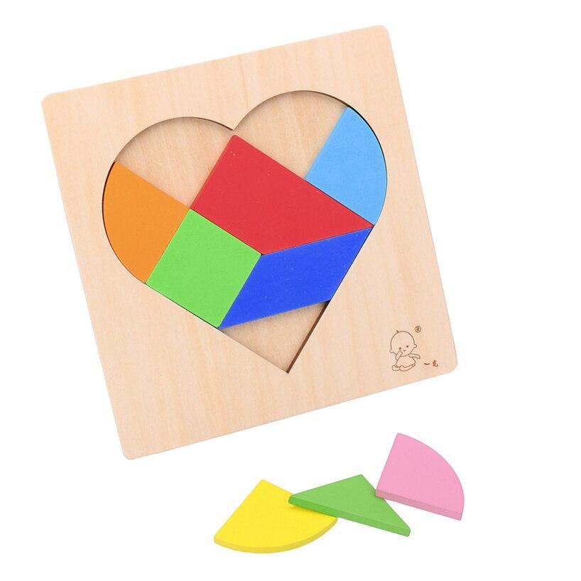 Детские головоломки разведки детские деревянные обучения Развивающие игрушки сердце пазл RE3