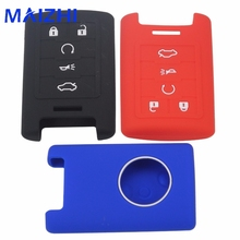 hot deal buy 5 buttons silicone car key case cover styling for cadilac ats srx dts cts sts xts chevrolet smart remote key case no logo