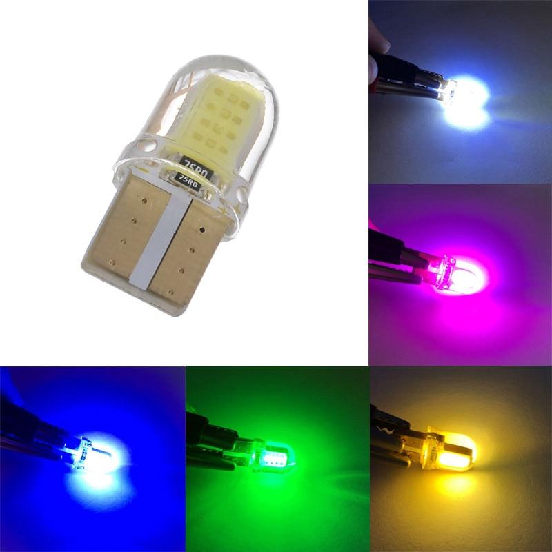 10 x Bombillas T10 W5W 12V 2LED SMD luz color verde iluminaci/ón en el interior,umbrales,lector de tarjeta,luz del techo,compartimiento,motor,maletero,puerta AERZETIX