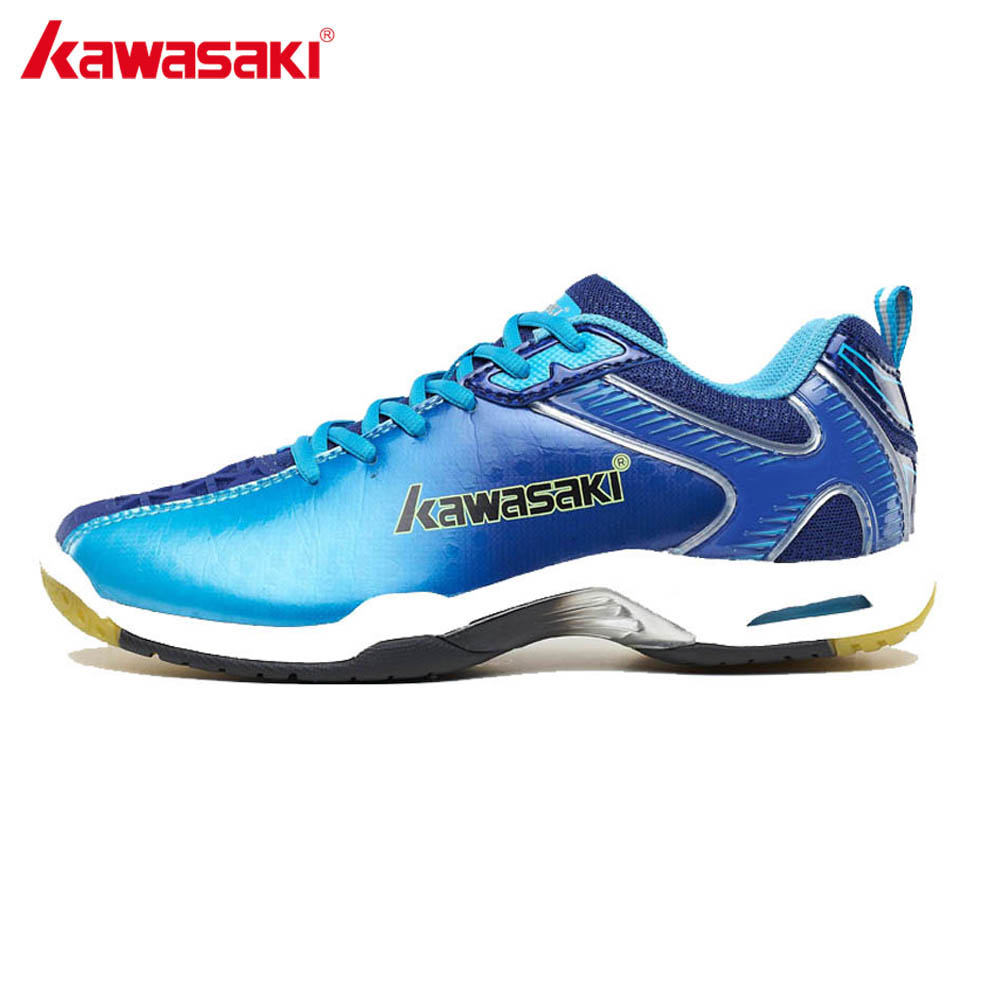 KAWASAKI Original Brand Badminton Shoes for Men Anti-Slippery Sneakers Breathable Hard-Wearing Blue Women Sports Shoes K-506 507 professional brand kawasaki badminton shoes 2017 sport sneakers for men women anti slippery pvc floor sports shoe k 065 k 066