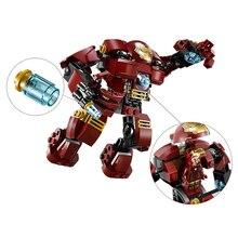 Marvel Superheroes vengadores bloques de construcci0n figuras Ultron Iron Man Hulk Buster ladrillos juguete Compatible con Le