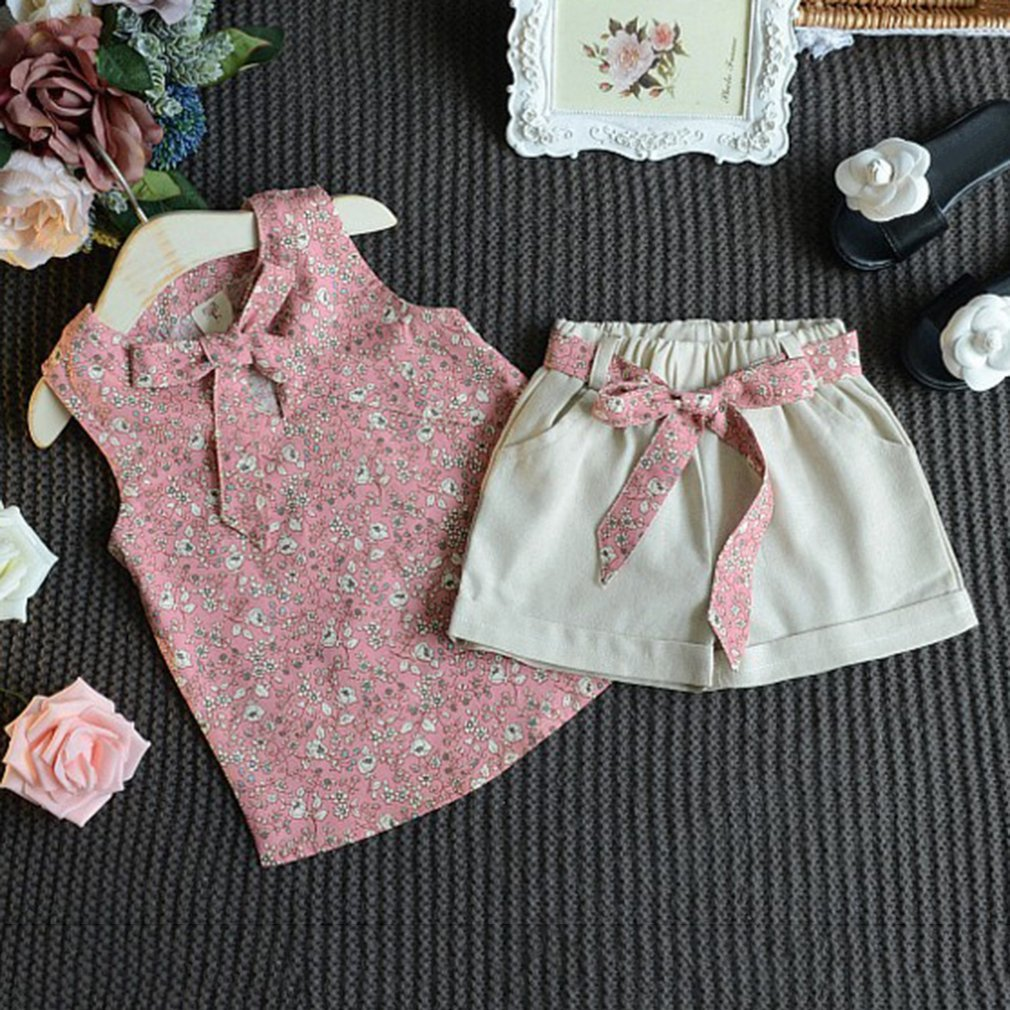 988768ec220 OUTDOUBE 2018 Ρούχα για κορίτσια με άνθη floral έντυπη Μόδα κορίτσια ...