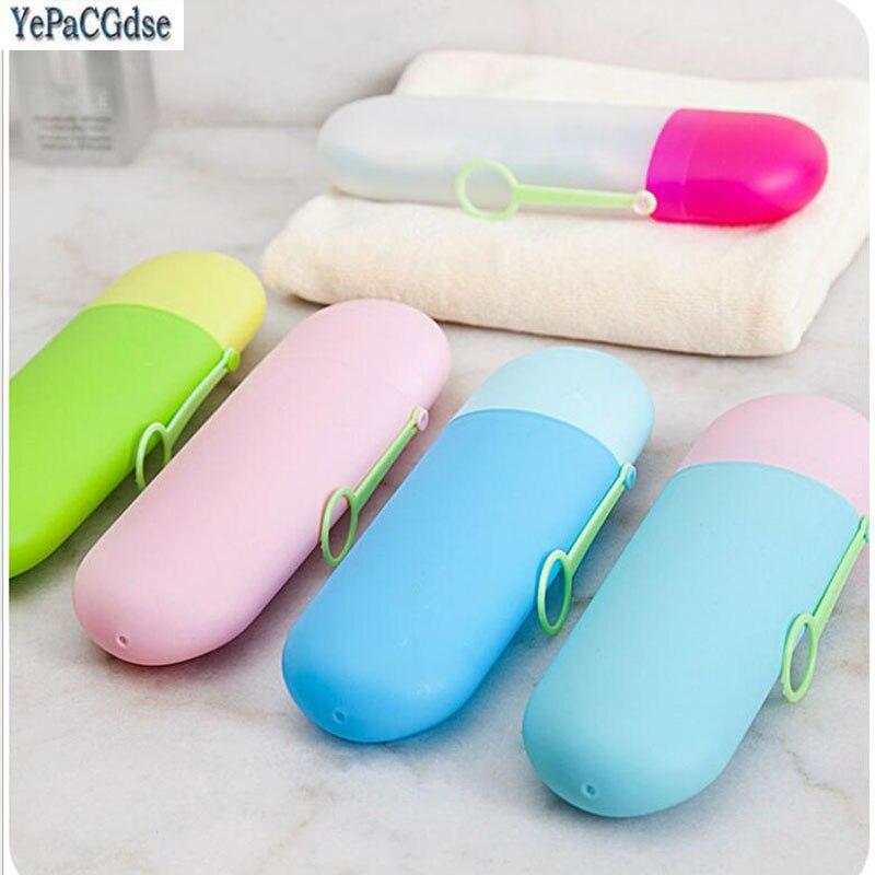 6 färger bärbar resa tandborste tandkräm förvaringslåda hållare ... 4866bc58eea92