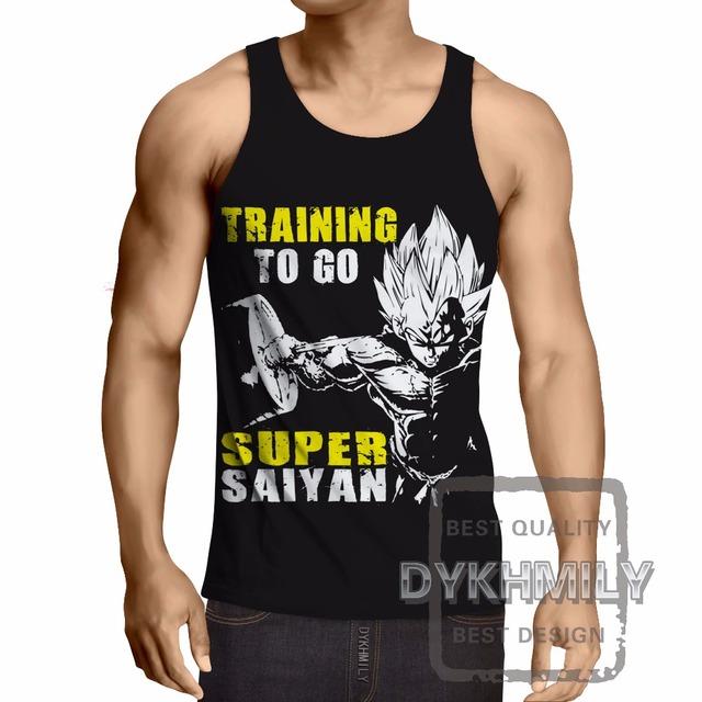 Dragon Ball Z Bodybuilding Clothing Sleeveless Men Tank Top