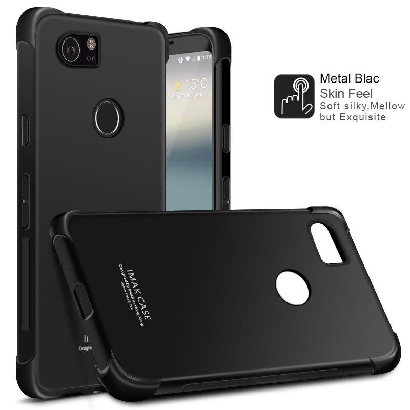 Anti-Knock Airbag Case For Google Pixel 2 XL Matte Case Soft TPU Cover For Google Pixel 2XL XL2 Dual Sim Case + Screen Film