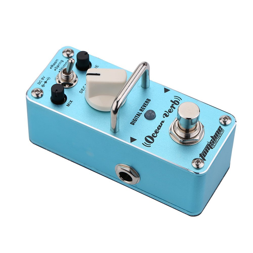 AROMA AOV-3 Ocean Verb Digital Reverb Electric Guitar Effect Pedal Mini Single Effect with True Bypass german verb berlitz handbook