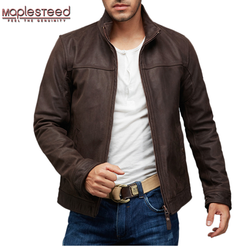 Online Get Cheap Dark Brown Leather Jacket -Aliexpress.com ...