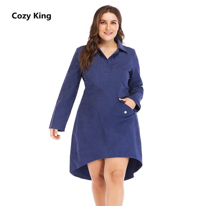 Cozy King plus size dress women 2018 hot new autumn casual fashion ...