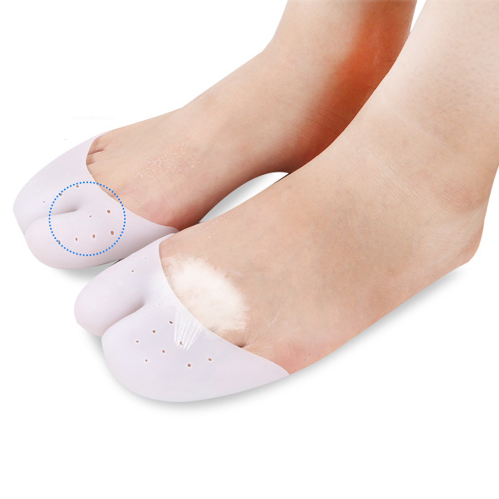 1 Pair High Quality Silicone Toe Sleeve Foot Protection Ballet Shoe High Heels Toe Pads Gel Protective Foot Care Massage Z28401
