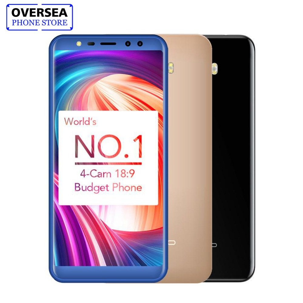 Leagoo M9 18:9 полный Экран четыре-камеры Android 7,0 MT6580A 5,5 4 ядра 2 ГБ Оперативная память 16 ГБ Встроенная память 8.0MP отпечатков пальцев 3G wcdma мобильного...