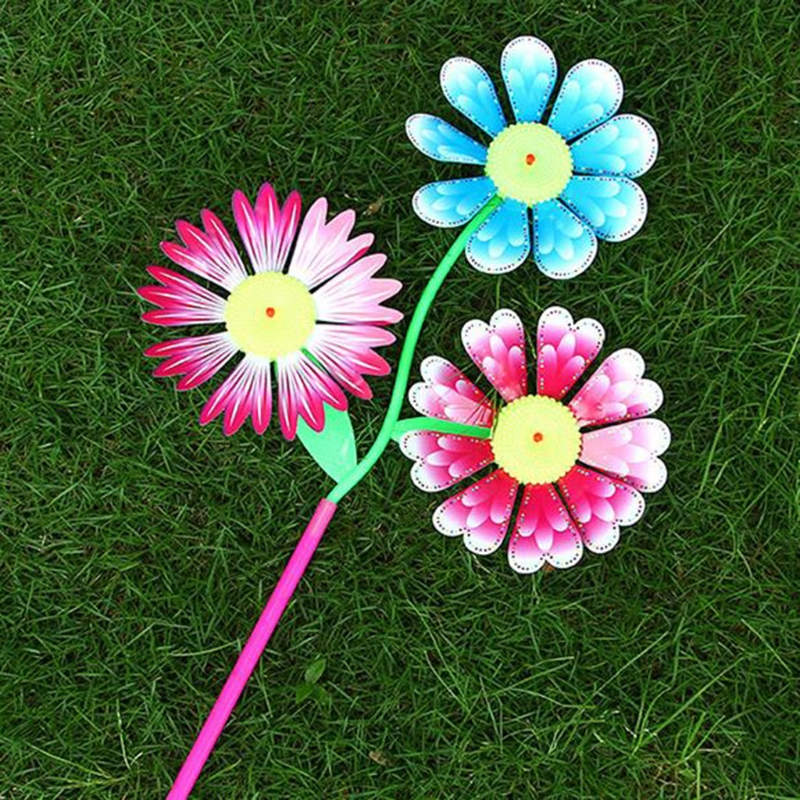 Household Appliances Intelligent Windmill Toys Children Kids Garden Decoration Flowers Colorful Outdoors Spinner