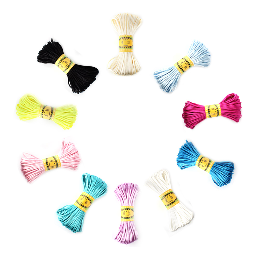 20 Meters 2.5mm Size Cord DIY String Cord Nylon Rope Accessary&Findings For Baby Silicone Teething Bead Necklace Jewelry Cord