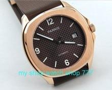 40 мм PARNIS Автоматические механические движения мужские часы Высокого качества Швейцарские часы Сапфировое стекло Часы оптом x00023a