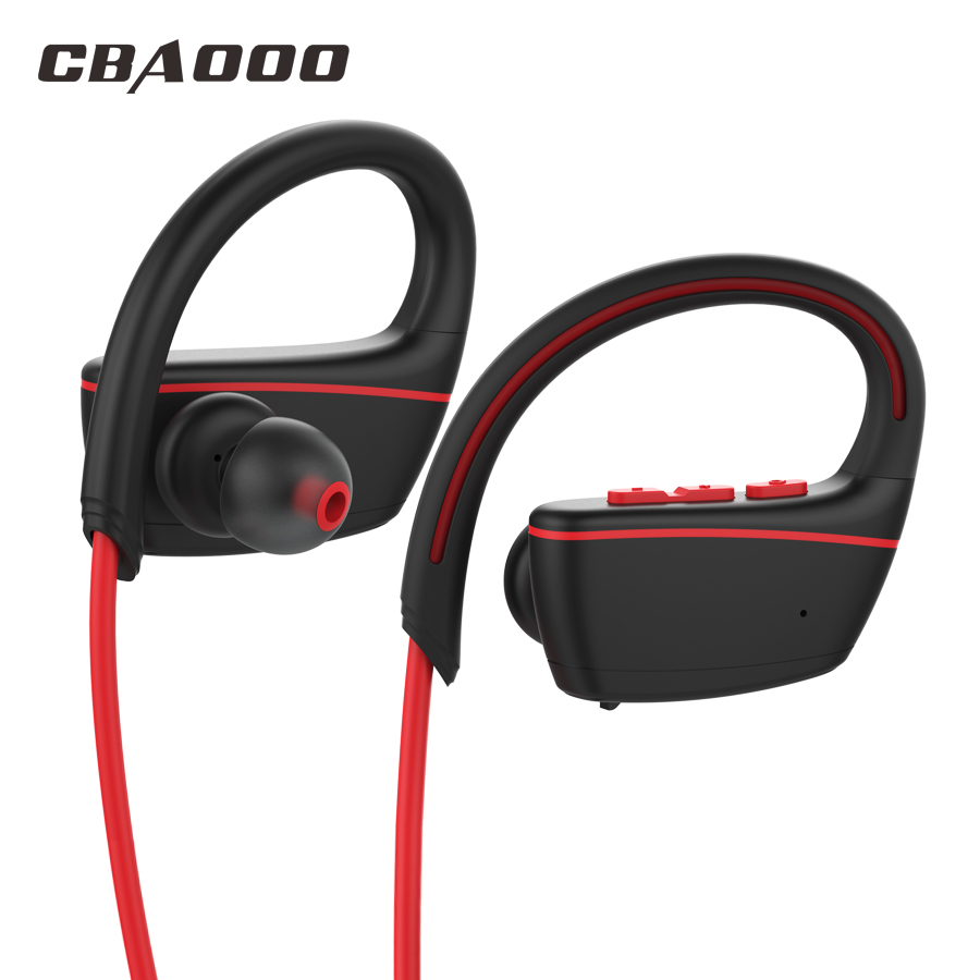 CBAOOO Bluetooth Headphones IPX7 Waterproof Wireless Earphone Sports Bass bluetooth Headset CSR with mic for phone iPhone xiaomi