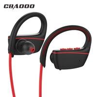 CBAOOO Bluetooth Headphones IPX7 Waterproof Wireless Earphone Sports Bass Bluetooth Headset CSR With Mic For Phone