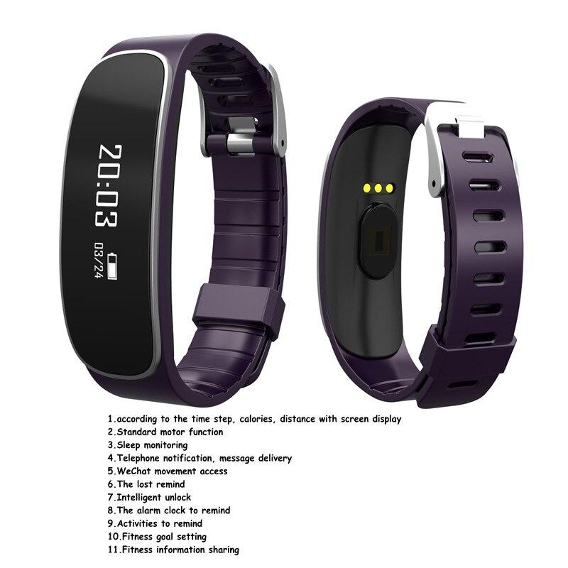 Wristband Bluetooth 4 0 font b Smart b font Bracelet Band Watch Fitness Sports Tracker Heart