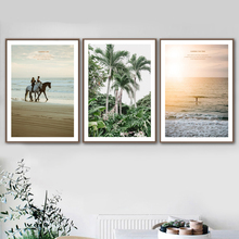 Tropical Beach Sea Coconut Tree Girl Man Wall Art Canvas Painting Nordic Posters And Prints Pictures For Living Room Decor