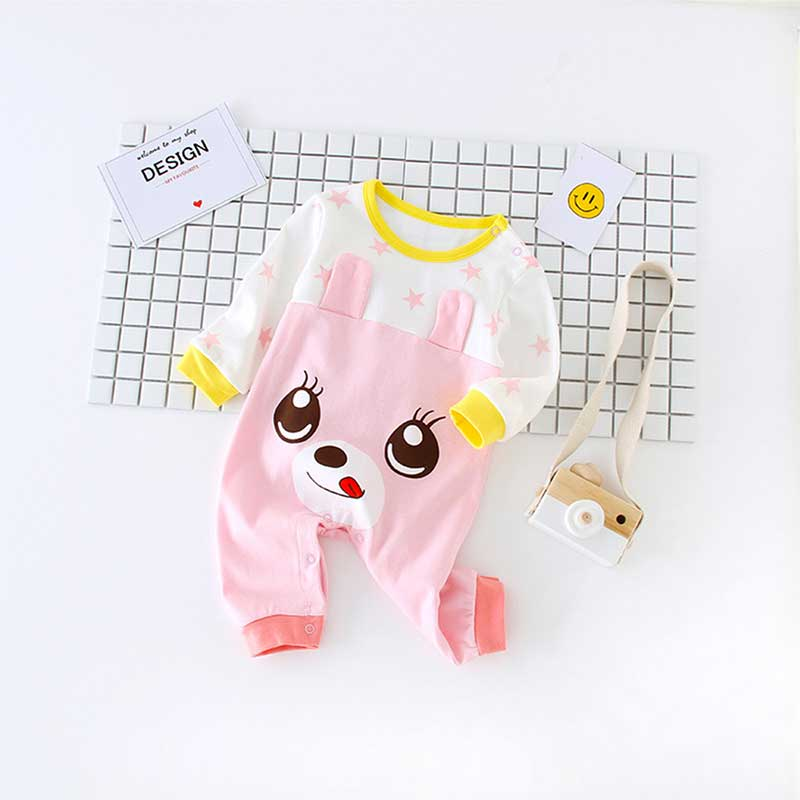 24e1af0e6bf556 Best buy Baby Clothing 2017 New Style Newborn Baby Boy Romper Clothes  Cotton Long Sleeve Baby Girl Romper Infant Product online cheap