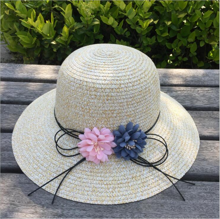 Summer south Korean version of the new sun visor hat sun hat sun hat summer can be folded anti uv sun hat sun protection for children to cover the sun with a large cap on the beach bike travel