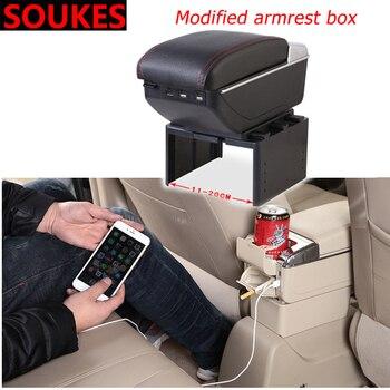 Car Multi-function Modified Central Armrest Box For BMW E46 E90 E60 E36 F20 X5 Ford Focus 2 3 1 Peugeot 206 307 308 Saab