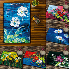 European indoor oil painting flower arrangement carpet Printed non-slip Living room hotel office home decoration mat