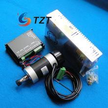 CNC ER11 48V 400W Air-Cooled Brushless Spindle Motor + Motor Driver Controller + Power Supply