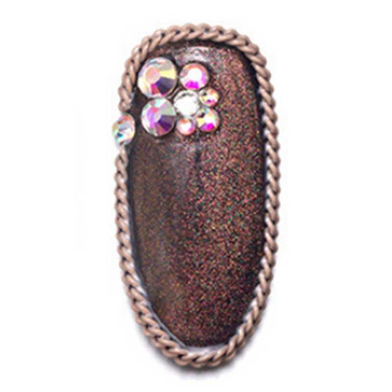 12 Цвет цепочка из металлического сплава Nail Art украшения ювелирных изделий розовый белый украшения из бронзы шпильки сеть 3D ногти аксессуары маникюр