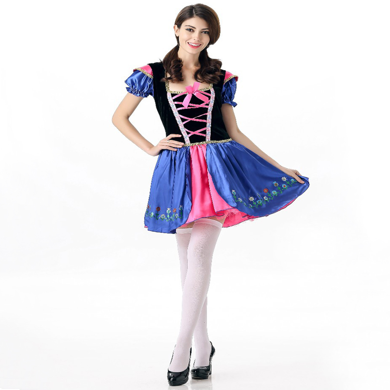 Free shipping adult sexy FROZEN Anna princess dress adult dance performance dress anime cosplay performance costumes JQ-1095