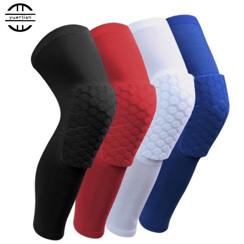 Hot 2016 Socks Honeycomb Sport Safety Basketball Knee Pads Padded Knee Brace Compression Knee Sleeve Protector Sports Kneepad